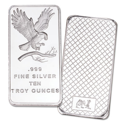 Image for 10 oz. Silver Bar - Bald Eagle from Littleton Coin Company