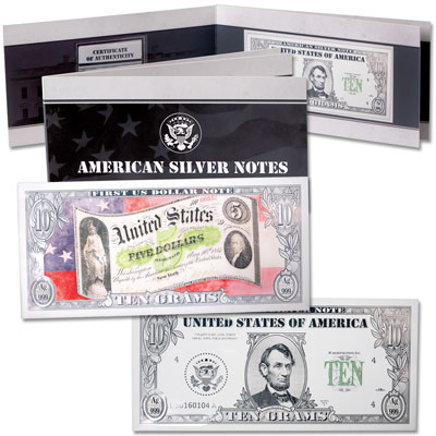 Image for 10 Gram Silver American Bank Note Bar - Abraham Lincoln from Littleton Coin Company