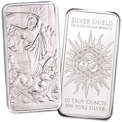 Image for 10 oz. Silver Bar - Jesus Clearing the Temple from Littleton Coin Company