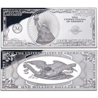 Image for 4 oz. Silver Million Dollar Bill from Littleton Coin Company