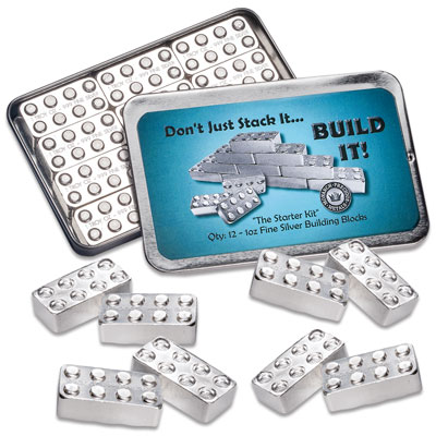 Image for 1 oz. Silver Building Block Bar Set from Littleton Coin Company