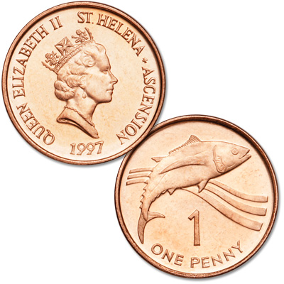 Image for 1997 St. Helena 1 Penny from Littleton Coin Company