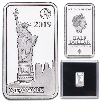 Image for 2019 Solomon Islands Silver 50 Cents Famous Landmarks - New York from Littleton Coin Company