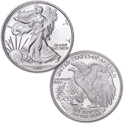 Image for 1/4 oz. Liberty Walking Silver Round from Littleton Coin Company
