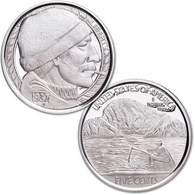 Image for Hobo Nickel - 1 oz. Silver Round - The Fisherman from Littleton Coin Company