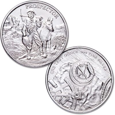 Image for Prospector 1 oz. Silver Round from Littleton Coin Company