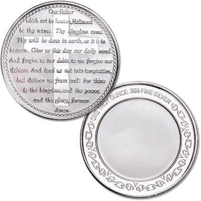 Image for 1 oz. Lord's Prayer Silver Round from Littleton Coin Company