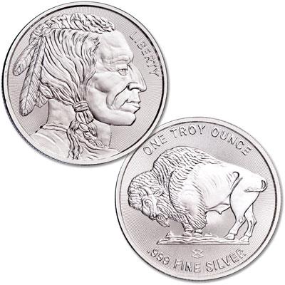 Image for Buffalo Nickel Silver Round from Littleton Coin Company