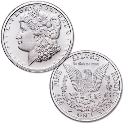 Image for 1 oz. Silver Round - Morgan Dollar Design from Littleton Coin Company