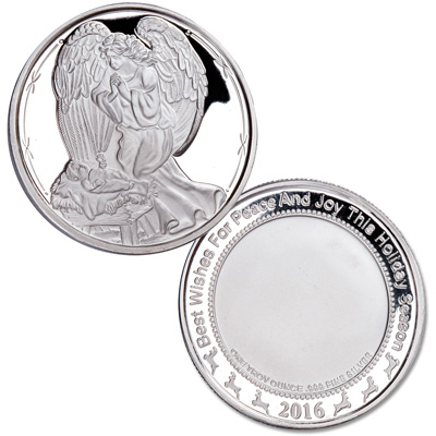 Image for 1 oz. Angel Over Jesus Silver Round from Littleton Coin Company