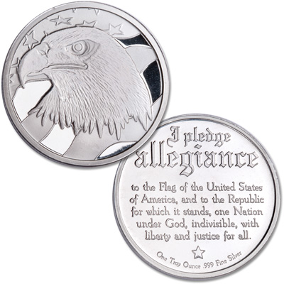 Image for 1 oz. Pledge of Allegiance Silver Round from Littleton Coin Company