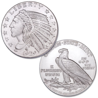 Image for 1/2 oz. Indian Head Silver Round from Littleton Coin Company