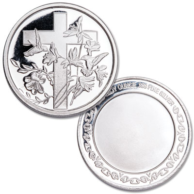 Image for Cross 1 oz. Silver Round from Littleton Coin Company