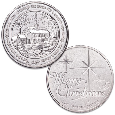 Image for 1 oz. Silver Round - Night Before Christmas from Littleton Coin Company