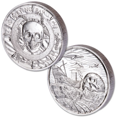 Image for Pirate Davy Jones - 2 oz. Silver Round from Littleton Coin Company