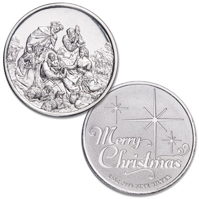 Image for 1 oz. Silver Round - Nativity Scene from Littleton Coin Company