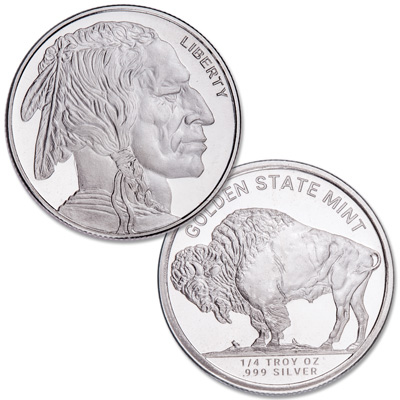 Image for 1/4 oz. Buffalo Nickel Silver Round from Littleton Coin Company