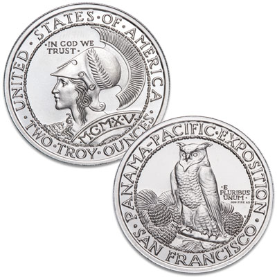 Image for Panama-Pacific Exposition 2 oz. Silver Round from Littleton Coin Company