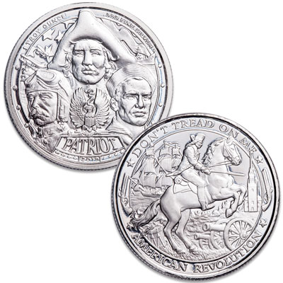 2019 Patriot Silver Round American Revolution BACKORDER Proof-Like Finish