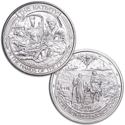 Image for 1 oz. Nativity Silver Round from Littleton Coin Company