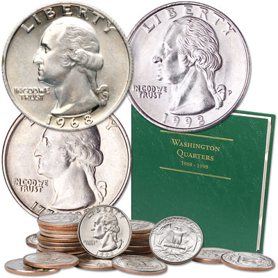 Image for 1968-1998 Washington Quarter Year Set with Album from Littleton Coin Company