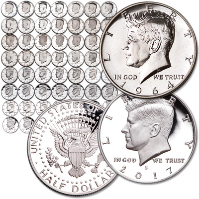 Image for 1964-2017 Proof Kennedy Half Dollar Set from Littleton Coin Company