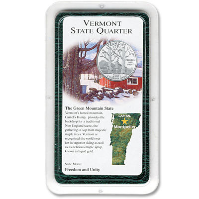 Image for 2001 Vermont Statehood Quarter Showpak® from Littleton Coin Company