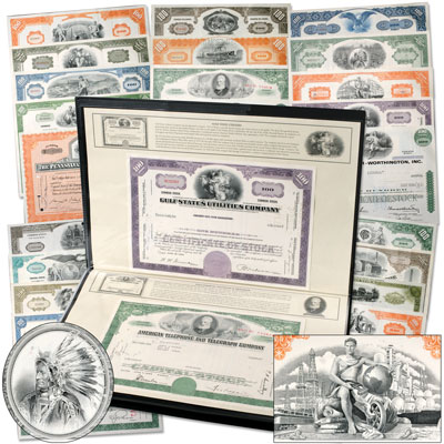 Image for 25 Great American Stocks & Bonds with Album from Littleton Coin Company