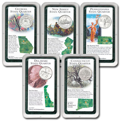 Image for All Five 1999 Statehood Quarter Showpaks from Littleton Coin Company