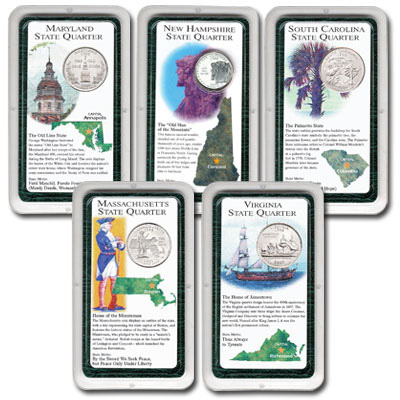 Image for All Five 2000 Statehood Quarter Showpaks from Littleton Coin Company
