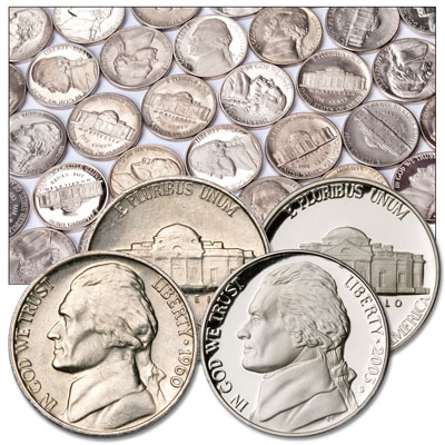 Image for 1960-2003 Deluxe Jefferson Nickel Set (80 coins) from Littleton Coin Company