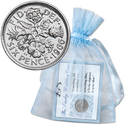 Image for 1947-1967 Lucky Silver Sixpence with Pouch from Littleton Coin Company