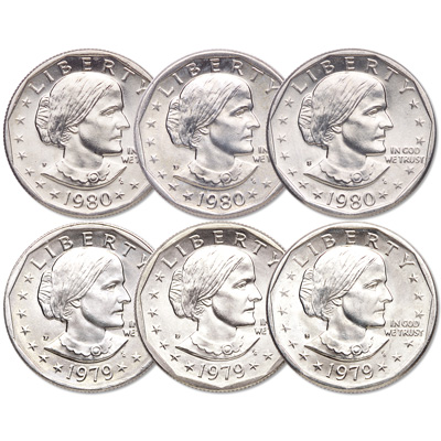1979-1980 All-Mint Susan B  Anthony Dollar Set | Littleton