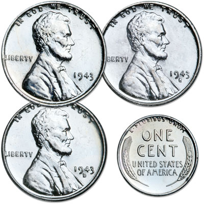 Image for 1943 PDS Reprocessed Steel Cents from Littleton Coin Company