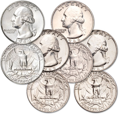 Image for 1964-1967 Washington Quarter Set from Littleton Coin Company