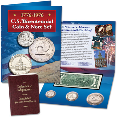 Image for U.S. Bicentennial Coin and Note Set from Littleton Coin Company