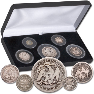 Image for 1837-1891 Liberty Seated Type Set (5 coins) from Littleton Coin Company