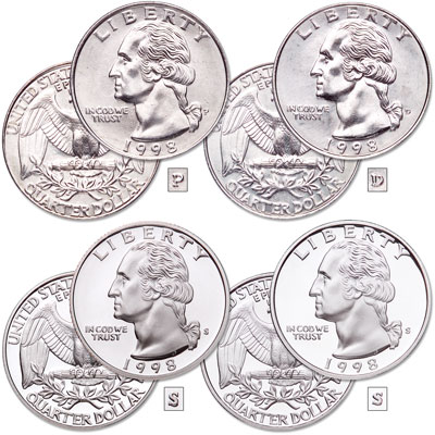 Image for 1998 PDSS Washington Quarter Set from Littleton Coin Company