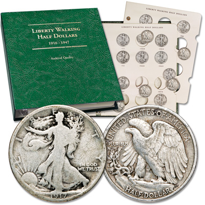 Image for 1917-1940 Liberty Walking Half Dollar Set with Album from Littleton Coin Company