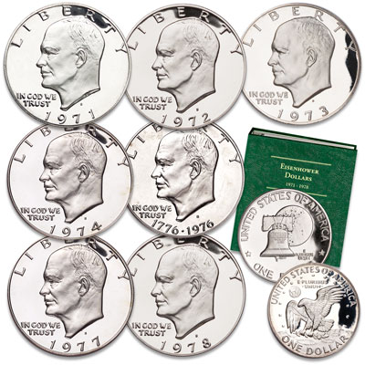 Image for 1971S-1978S Eisenhower Dollar Proof Year Set from Littleton Coin Company