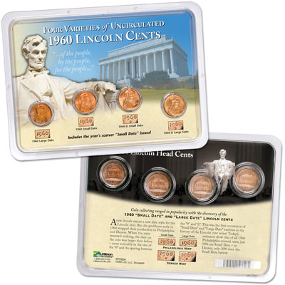 Image for 1960 Lincoln Cent Set (4 coins) in Showpak from Littleton Coin Company