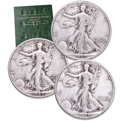 Image for 1916-1947 PDS Liberty Walking Half Dollar Set from Littleton Coin Company