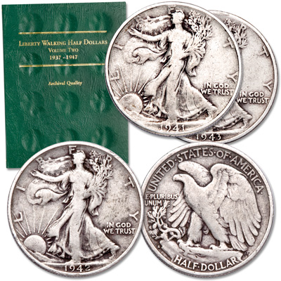 Image for PDS Liberty Walking Half Dollar Set from Littleton Coin Company