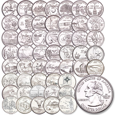 "Image for 1999-2008 ""P"" Mint Statehood Quarters Set (50 coins) from Littleton Coin Company"