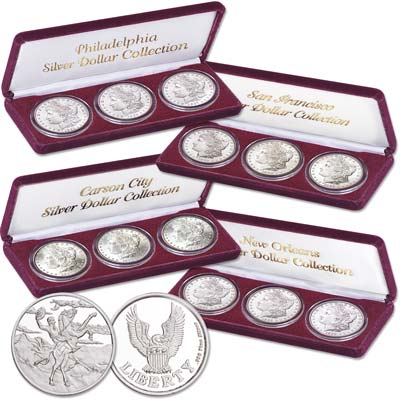 Image for 1879-1887 Four Morgan Dollar Mint Sets from Littleton Coin Company