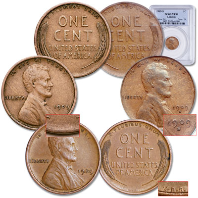 Image for 1909 First-Year Lincoln Cent Set (3 coins) from Littleton Coin Company
