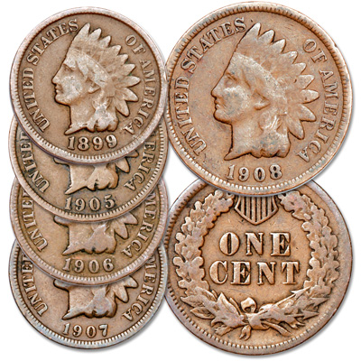 Image for 1899-1908 Indian Head Cent Set from Littleton Coin Company