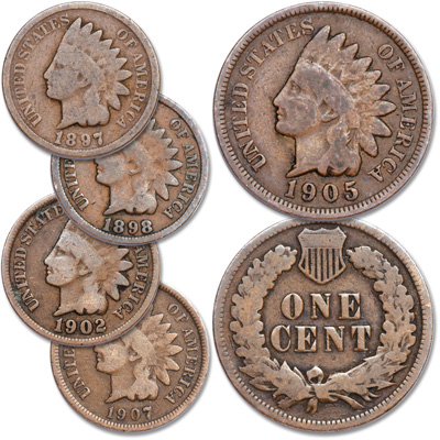 Image for 1897-1907 Indian Head Cent Set from Littleton Coin Company