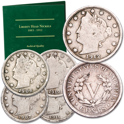 Image for 1899-1912 Liberty Head Nickel Set from Littleton Coin Company