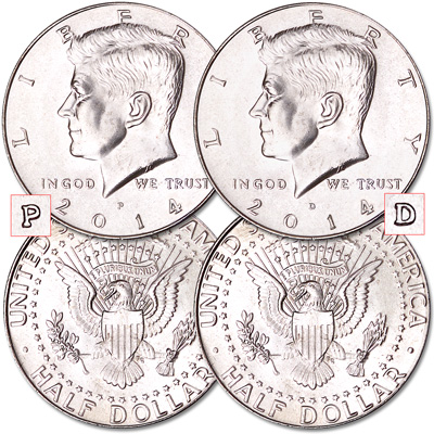 Image for 2014 P&D Kennedy Half Dollars from Littleton Coin Company